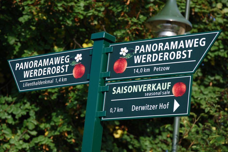 Wegweiser Panaoramaweg Werderobst im Havelland, Foto: Tourismusverband Havelland e.V.