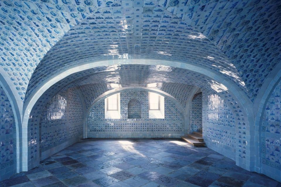Fliesensaal im Schloss Caputh, Foto: SPSG/Roland Handrick