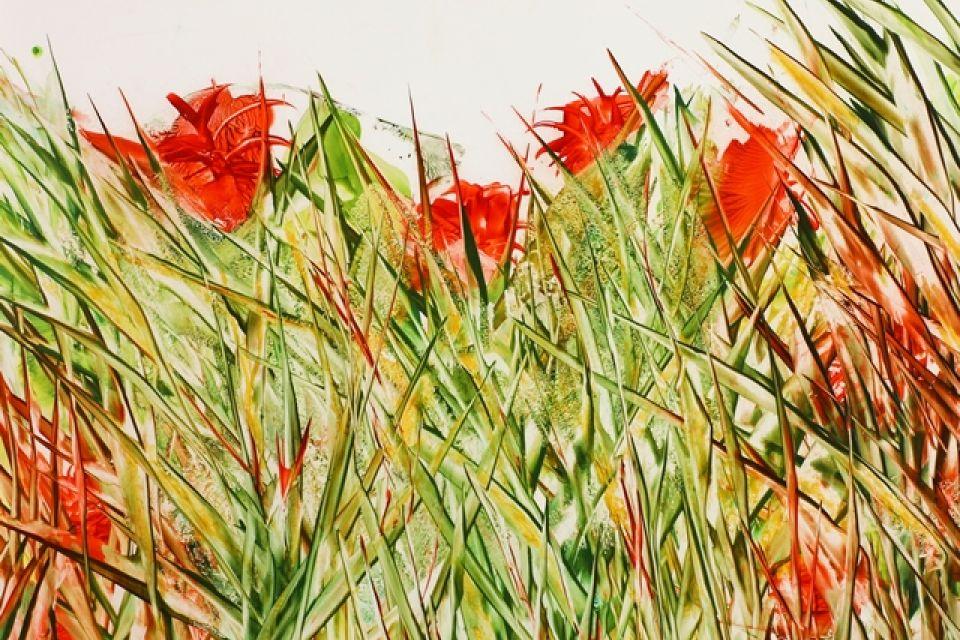 Seidenmalerei, Atelier Siegrid Müller-Holtz, Foto: Siegrid Müller-Holtz