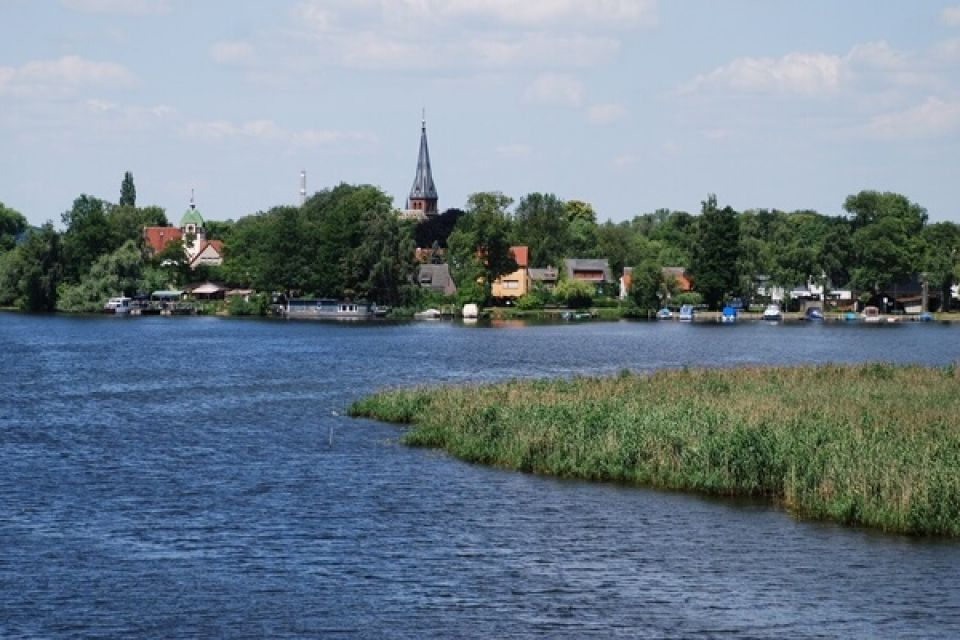 Blick über die Havel auf Geltow