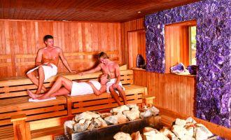 Kristall-Saunatherme Ludwigsfelde - Amethyst-Sauna, Foto: Kristall Bäder AG
