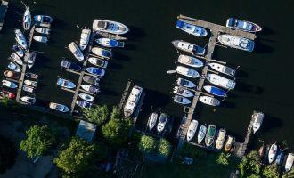Lechler Bootsstände von oben, Foto: Studio1® Kommunikation GmbH