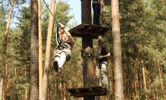 CLIMB UP! - Kletterwald in Klaistow - Bis zu 200 m langen Seilrutschen, Foto: Climb Up!