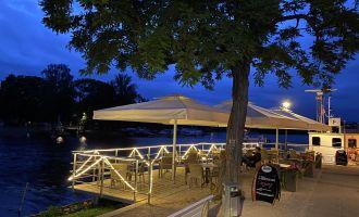 Abendstimmung am Eiscafé Portofino, Foto:B. Restelica