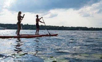 Stand Up Paddling auf dem Schwielowsee, Foto: Anna Sommer