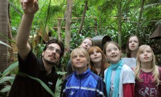 Kinder erforschen die Biosphäre Potsdam, Foto: Biosphäre Potsdam GmbH