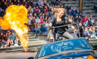Stuntshow, Foto: Filmpark Babelsberg/Ronny Budweth
