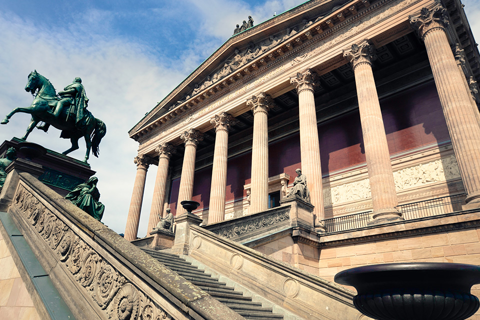 Alte Nationalgalerie in Berlin auf der Museumsinsel